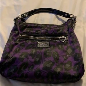 Purple leopard print Coach purse